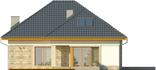 Projekt domu Amalfi 2 - elewacja tylna