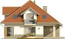 Projekt domu Amfilada 2 - elewacja tylna