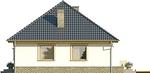 Projekt domu Kamyczek 2 - elewacja boczna 1