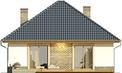 Projekt domu Kamyczek 2 - elewacja tylna