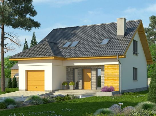 Projekt domu Omega 2 - widok 1