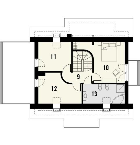 Projekt domu Wasabi - rzut poddasza