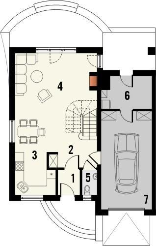 Projekt domu Nowela 4 - rzut parteru