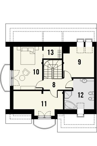 Projekt domu Nowela 4 - rzut poddasza