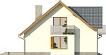 Projekt domu Bella 6 - elewacja boczna 1