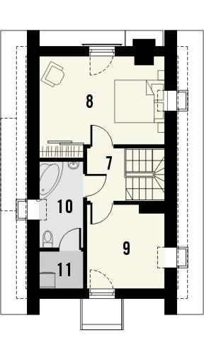 Projekt domu Tarot 2  - rzut poddasza
