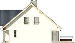 Projekt domu Klasyka 4 - elewacja boczna 2