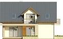Projekt domu Rozalin 2 - elewacja boczna 1