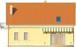 Projekt domu Cekin - elewacja tylna