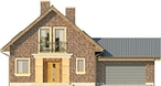 Projekt domu Adorator - elewacja przednia
