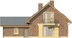 Projekt domu Adorator - elewacja tylna