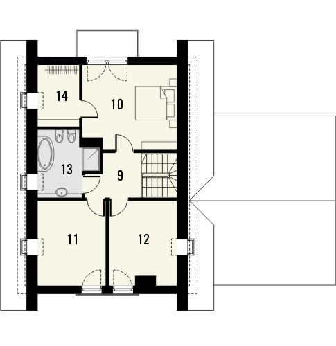 Projekt domu Adorator - rzut poddasza