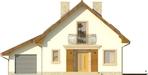 Projekt domu Galena - elewacja przednia