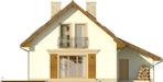 Projekt domu Galena - elewacja tylna