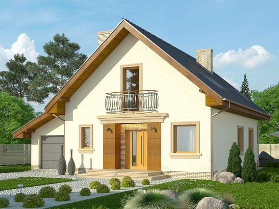 Projekt domu Galena - widok 1