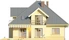 Projekt domu Ikebana 2 - elewacja tylna