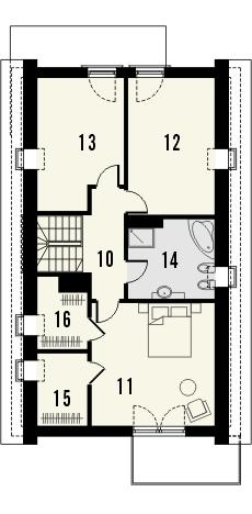 Projekt domu Master - rzut poddasza