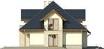 Projekt domu Ikebana 3 - elewacja boczna 1