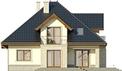 Projekt domu Ikebana 3 - elewacja tylna