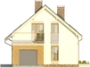 Projekt domu Inicjał - elewacja przednia