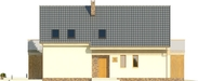Projekt domu Inicjał - elewacja boczna 1