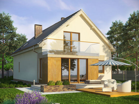 Projekt domu Inicjał - widok 2