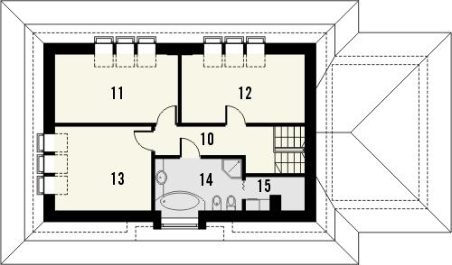 Projekt domu Amaretto 2 - rzut poddasza