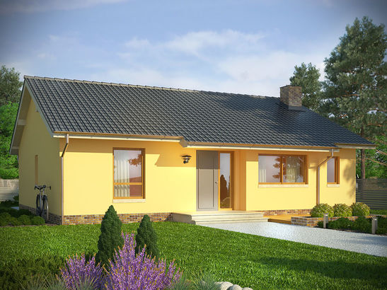 Projekt domu Cypr - widok 1