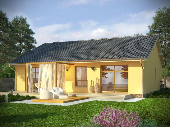 Projekt domu Cypr - widok 2