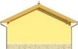 Projekt domu Garaż 13 - elewacja tylna