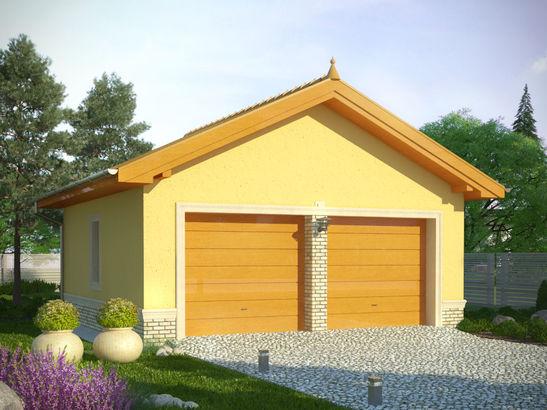 Projekt domu Garaż 13 - widok 1