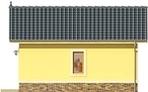 Projekt domu Garaż 15 - elewacja boczna 2