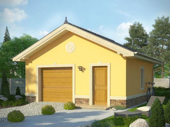 Projekt domu Garaż 15 - widok 1