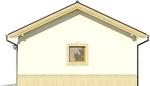 Projekt domu Garaż 17 - elewacja boczna 1