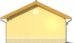 Projekt domu Garaż 19 - elewacja boczna 1