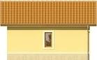 Projekt domu Garaż 19 - elewacja tylna