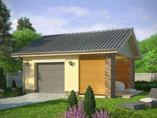 Projekt domu Garaż 20 - widok 1