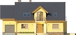 Projekt domu Szmaragd 3 - elewacja przednia