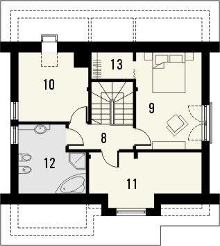 Projekt domu Absolwent 2 - rzut poddasza