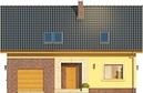 Projekt domu Opuncja - elewacja przednia