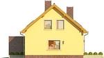 Projekt domu Opuncja - elewacja boczna 1