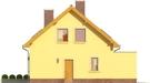 Projekt domu Opuncja - elewacja boczna 2