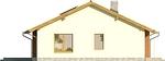Projekt domu Awans - elewacja boczna 1
