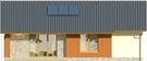 Projekt domu Awans - elewacja tylna