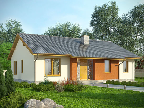 Projekt domu Awans - widok 1