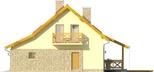 Projekt domu Słowianin - elewacja boczna 1