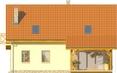 Projekt domu Słowianin - elewacja tylna