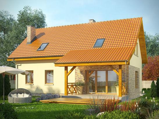 Projekt domu Słowianin - widok 2