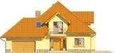 Projekt domu Meritum 2 - elewacja przednia