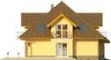 Projekt domu Meritum 3 - elewacja boczna 1
